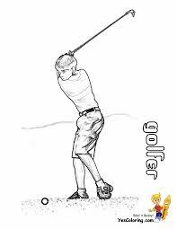 great golf coloring sheets yescoloring free golf sports