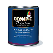 Exterior Paint Lowes - shop olympic white high gloss latex interior exterior paint
