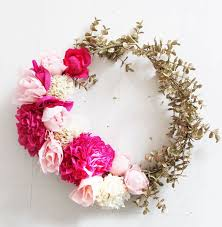flower wreath 20 pretty diy wreaths