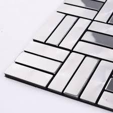 metallic tiles backsplash wholesale metallic mosaic tile aluminum panel wall stickers strip
