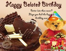 9 best images of happy belated birthday greeting cards belated