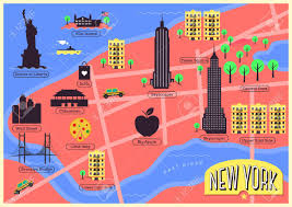 Nyc City Map City Map Of New York City United States Royalty Free Cliparts