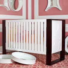 modern crib nurseryworks aerial crib in snow u0026 dark frame w