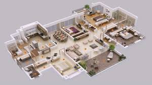 4 bed house plans 4 bedroom house plans bangladesh