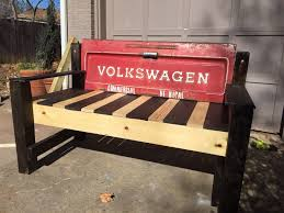 custom made volkswagen tailgate bench by grit unique designs
