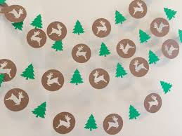 christmas decorations reindeer garland christmas tree paper