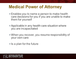 Durable Power Of Attorney For Health Care Decisions by Speak For Yourself Making Your Future Health Care Decisions Ppt