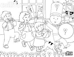 celebrate with your little one and this caillou parade coloring