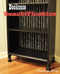 crappy bookcase beautification creatively living blog