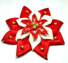 poinsettia hair bow christmas hair bow hair accessories flower