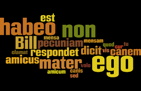 Be Like Bill The Comprehensible - todally comprehensible latin wordle word cloud