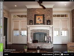 bricked fireplace the blue salon pinterest brick fireplace