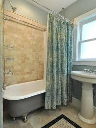Clawfoot Tub Shower Curtain Rod You Can Make Yourself Footed Tub Shower U2013 Limette Co