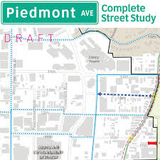 Map Of Midtown Atlanta by Piedmont Avenue Complete Street Project
