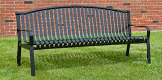 Curved Bench With Back Commercial Park Bench With Curved Back Powder Coated Steel