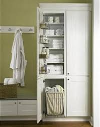 Bathroom Cabinet With Laundry Bin by Master Bathroom For Tall Cabinet Next To Tub Like The Tall On