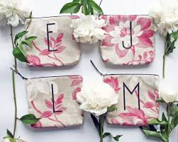 20 sale bridesmaid gift set personalized letter make up bag