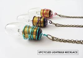 upcycled light bulb necklace stuff steph does
