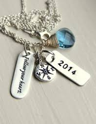 high school class necklaces jewelry with quotes personalized high school by whiteliliedesigns