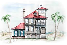 house with tower beach house with tower lookout 15725ge architectural designs