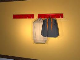 wall mounted coat rack wall mounted coat rack contemporary powder coated steel 2d