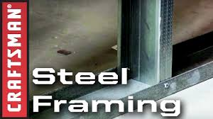 steel framing how to build a metal stud wall craftsman youtube