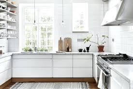 cuisine scandinave tapis pour cuisine cuisine scandinave blanche avec un tapis house