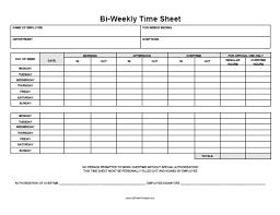biweekly time sheet free printable allfreeprintable com