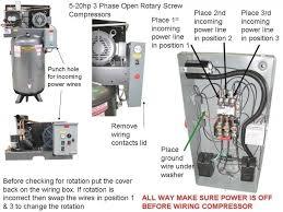 3 phase air compressor wiring diagram