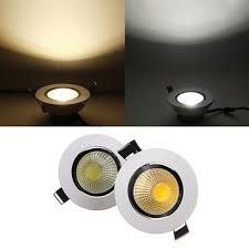 Recessed Ceiling Light Fixtures 6w Dimmable Cob Led Recessed Ceiling Light Fixture Light 220v