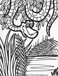 drawn jungle jungle scenery pencil and in color drawn jungle