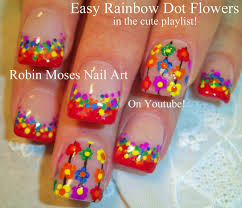 watercolor flower nail art design fall cute nail tutorial nail