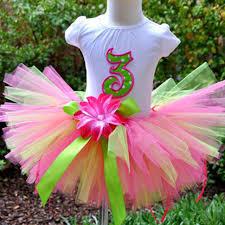 ribbon tutu colorful baby flower tutu skirts infant fluffy tulle party