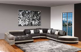 White Leather Sofa Living Room Ideas by Living Room Accent Walls White Leather Sofa Design Grey Fabric
