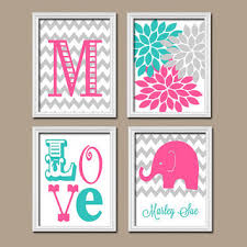 Pink Elephant Nursery Decor Best Elephant Canvas For Nursery Products On Wanelo