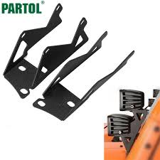 work light mounting bracket partol a pillar light bar windshield mounting brackets kit car