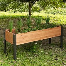 coral coast guthrie corrugated metal u0026 wood raised garden bed 4l