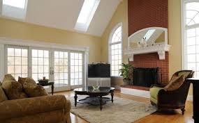 small living room with brick fireplace centerfieldbar com