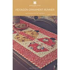 hexagon ornament table runner pattern by msqc msqc msqc