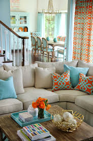 Orange Living Room Decor Amazing Orange And Blue Living Room Living Room Blue