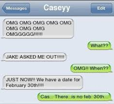 Text Message Meme - text message meme 013 there is no feb 30th funny text messages