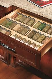 Spice Rack In A Drawer Wall Swing Out Spice Rack Decora Cabinetry