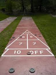 diy shuffleboard court this might be my summer project hmmm
