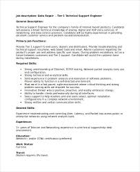 Ccna Resume Sample by Technical Resume Template 6 Free Word Pdf Document Downloads