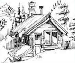 log cabin drawings free log cabin drawings clipart