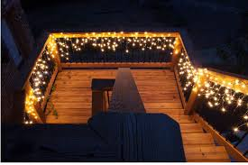 Outdoor Icicle Lights Deck Lighting Ideas With Brilliant Results Yard Envy