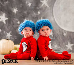 baby costume baby dr seuss s thing 1 and thing 2 baby costume pottery barn kids