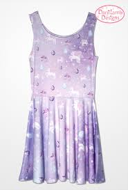 unicorn dress pegasus pony fairy kei dress pastel galaxy dress