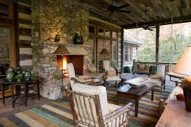 interesting style of rustic front porches with good furniture of