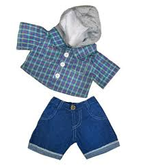 teddy clothes skater hoodie w denim teddy clothes fits most 14